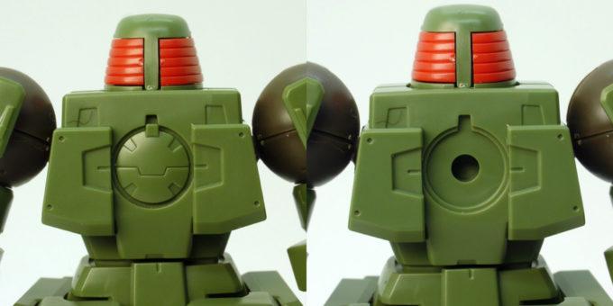 HGACリーオーの後ろ姿のガンプラレビュー画像です