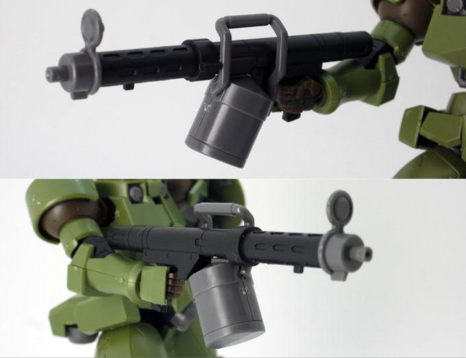 HGACリーオーの105mmライフルのガンプラレビュー画像です