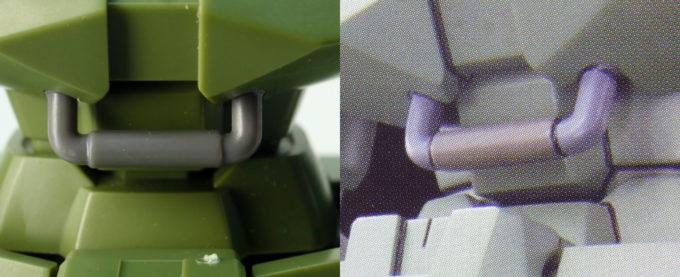 HGACリーオーの要塗装箇所のガンプラレビュー画像です