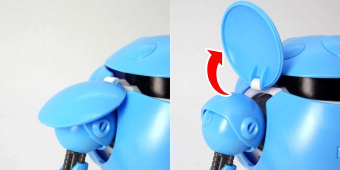HGBDモモカプルの肩パッドのガンプラレビュー画像です