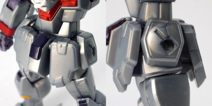 HGUCクロスボーン・ガンダムX0の腰部のガンプラレビュー画像です
