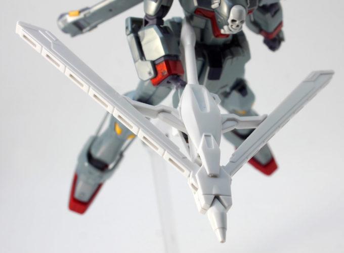 HGUCクロスボーン・ガンダムX0のクジャク・スマッシャーモードのガンプラレビュー画像です