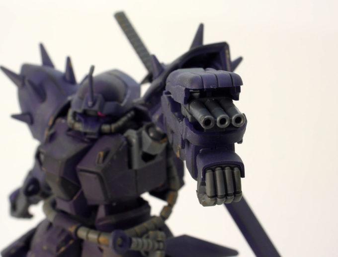 3連想ガトリング砲のガンプラレビュー画像です