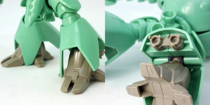 1/144モビルカプルの脚部のガンプラレビュー画像です