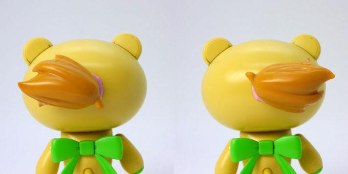 HGPGプチッガイ きゃらっがい フミナのポニーテールのガンプラレビュー画像です
