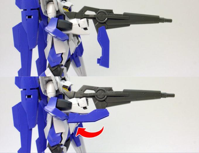 HGアイズガンダム(1.5ガンダム)のGNバスターライフルのガンプラレビュー画像です