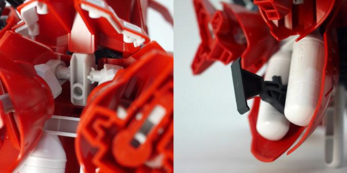 クロスシルエットフレーム・ナイチンゲールにクロスシルエットフレームを組み込んだガンプラ画像です