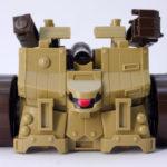 攻城兵器の投石車形態のガンプラレビュー画像です