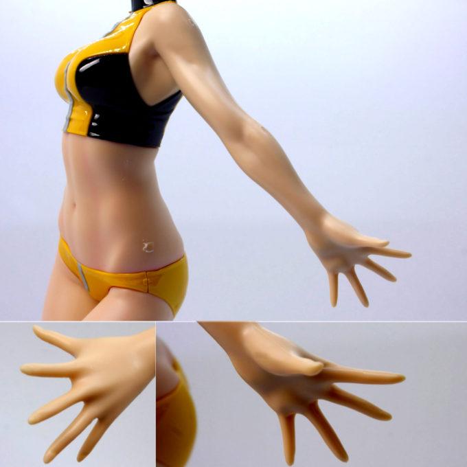 フィギュアライズラボのホシノ・フミナの左腕、手の平の画像です