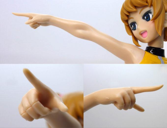 フィギュアライズラボのホシノ・フミナの右腕、人差し指の画像です