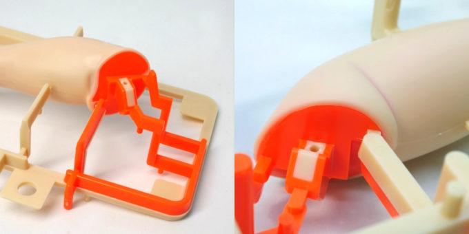 フィギュアライズラボのホシノ・フミナの足部分のレイヤードインジェクション画像です