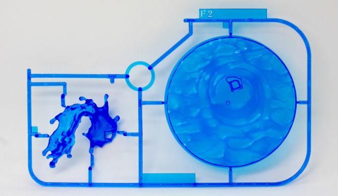 フィギュアライズラボのホシノ・フミナの水しぶきをあしらった台座のランナー画像です