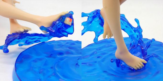フィギュアライズラボのホシノ・フミナを台座に設置する方法の画像です