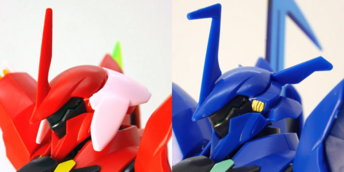 煌・ギラーガとギラーガの頭部の違い・比較画像です