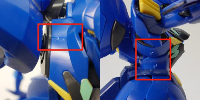 HGBD煌・ギラーガの胴体の合わせ目のガンプラレビュー画像です