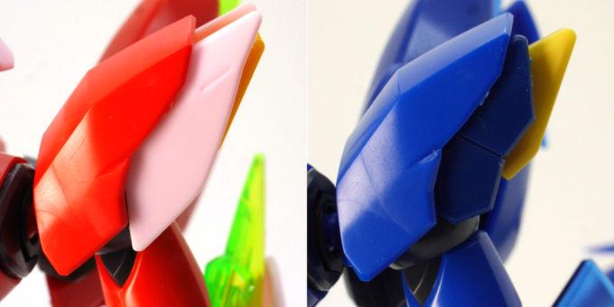 煌・ギラーガとギラーガの肩部の違い・比較画像です