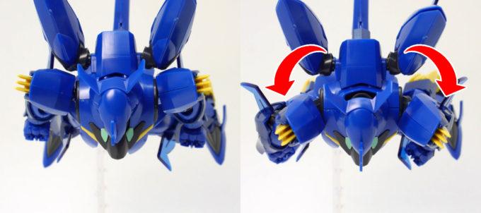 HGBD煌・ギラーガの肩の可動範囲の画像です
