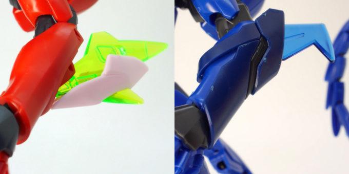 煌・ギラーガとギラーガの腕部の違い・比較画像です