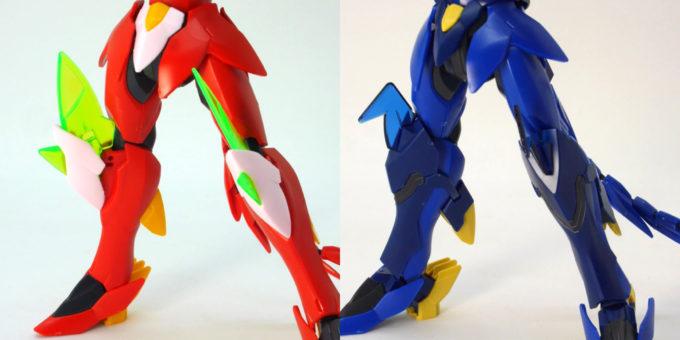 煌・ギラーガとギラーガの脚部表側の違い・比較画像です