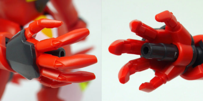 HGギラーガのビームバルカンのガンプラレビュー画像です