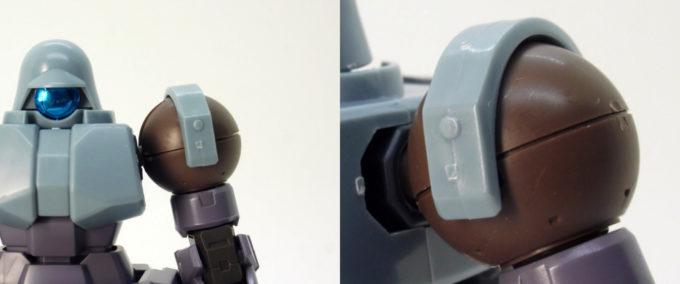 HGBDリーオーNPDのショルダーアーマーの種類のガンプラレビュー画像です