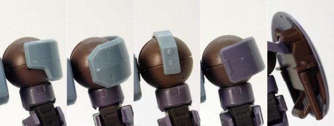 HGBDリーオーNPDのショルダーアーマー全種類のガンプラレビュー画像です
