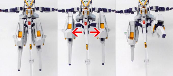 HGUCガンダムTR-6ウーンドウォートの脚部引き出しギミックの可動機画像です