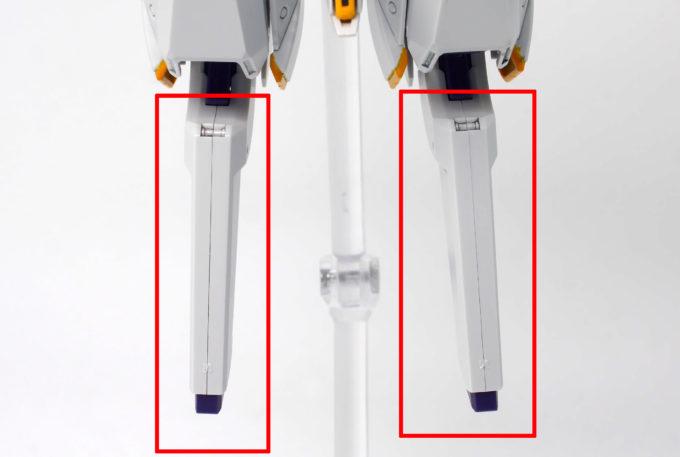 HGUCガンダムTR-6ウーンドウォートの脚部にある合わせ目の画像です