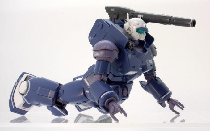 HGガンキャノン最初期型(鉄騎兵中隊機)のガンプラレビュー画像です