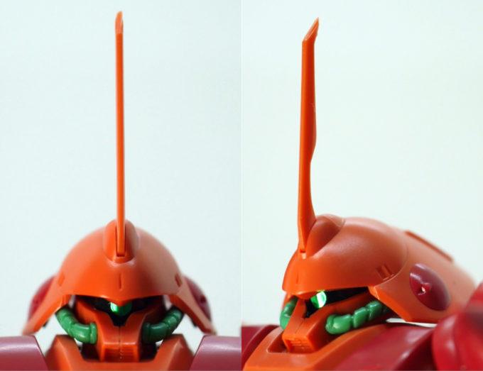 HGUCマラサイの頭部のガンプラレビュー画像です