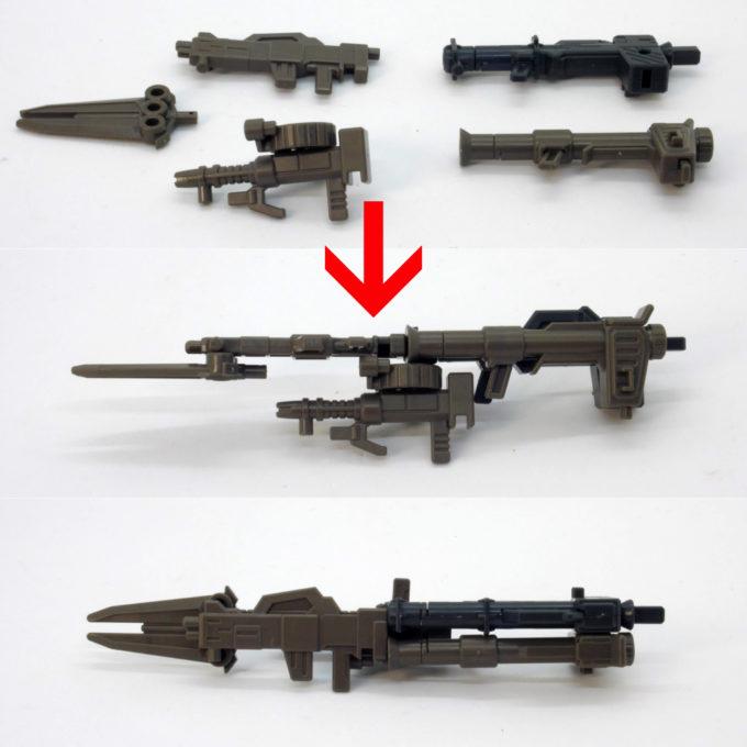 SGスーパーショックガンダムの武器合体画像です
