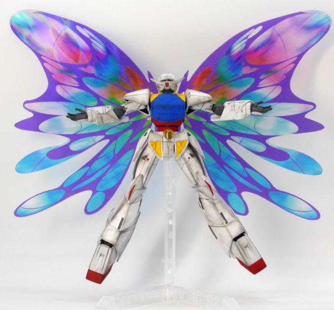 ターンエーガンダム用拡張エフェクトユニット月光蝶のガンプラレビュー画像です