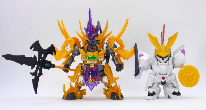 玄武装呂布トールギスと嵐の騎士トールギスの比較ガンプラ画像です