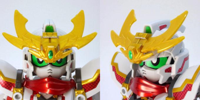 RX-零丸の頭部のガンプラレビュー画像です