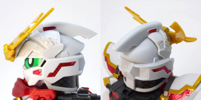 RX-零丸の顔のガンプラレビュー画像です