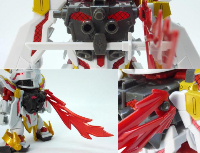 RX-零丸のバックパックのガンプラレビュー画像です