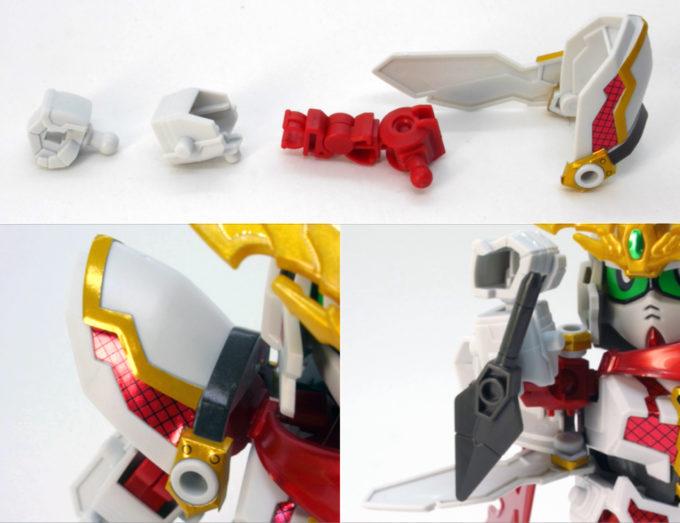 RX-零丸の腕部のガンプラレビュー画像です