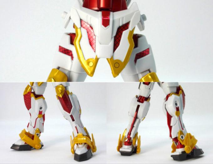RX-零丸のリアル体型の脚部のガンプラレビュー画像です