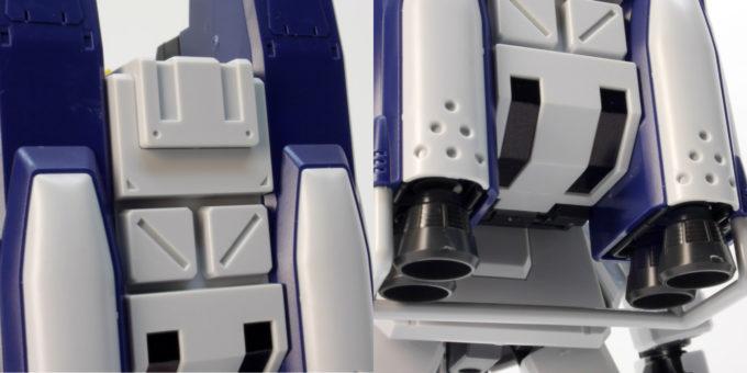 陸戦型ガンダム(パラシュート・パック仕様)のパラシュート・パックのガンプラレビュー画像です