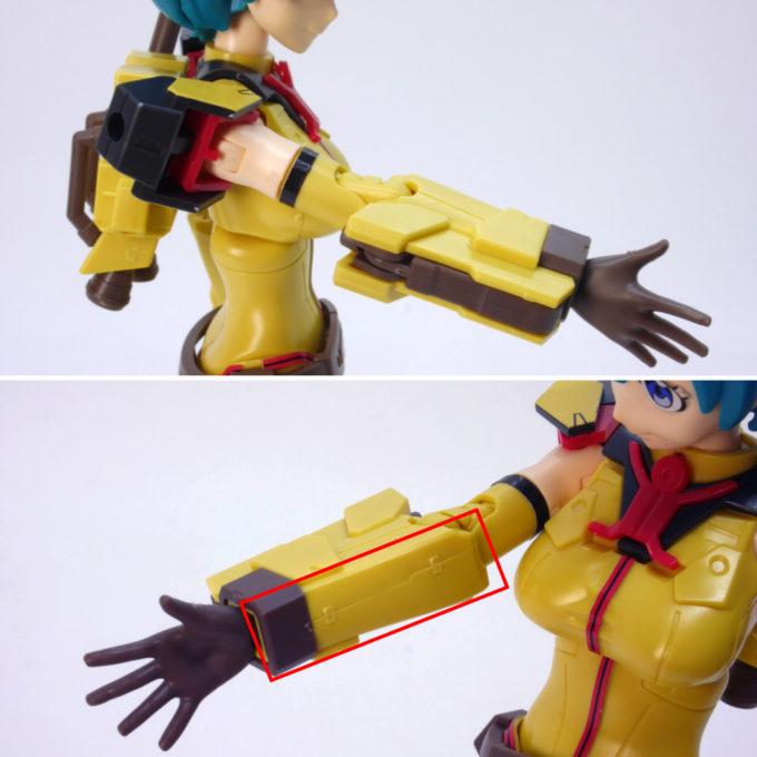 Figure-rise-Standardダイバーナミの腕部のガンプラレビュー画像です
