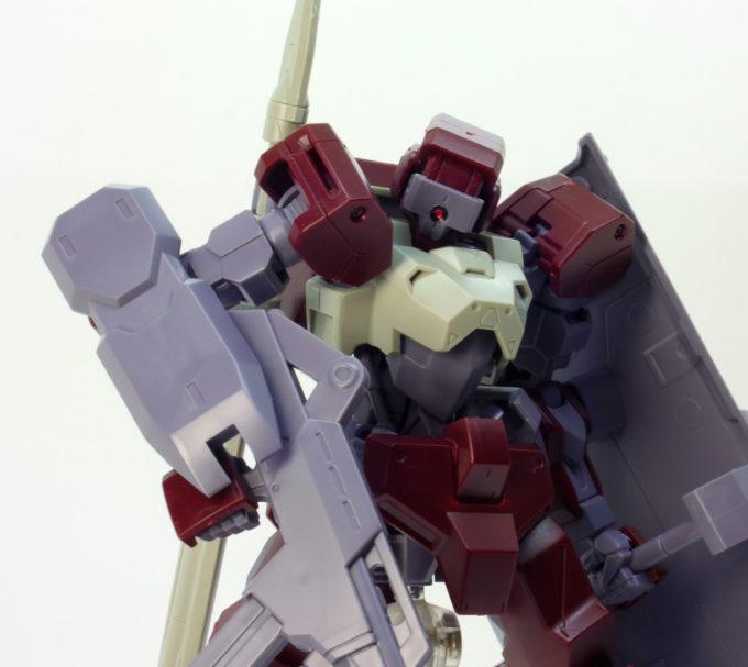 HGイオフレーム獅電(しでん)のガンプラレビュー画像です