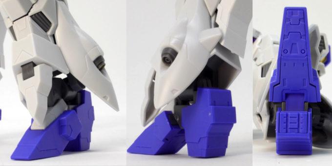 HGUCムーンガンダムの脚部のガンプラレビュー画像です