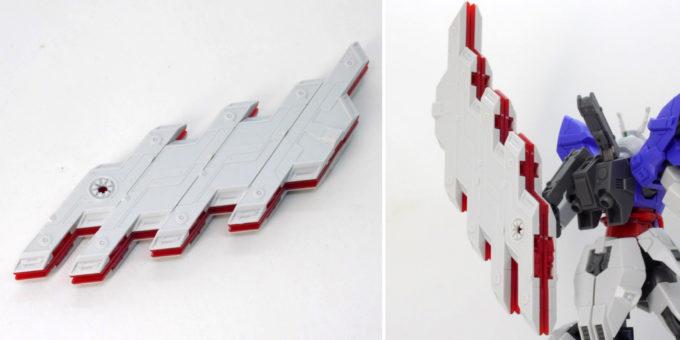 HGUCムーンガンダムのサイコプレート折りたたみギミックのガンプラレビュー画像です