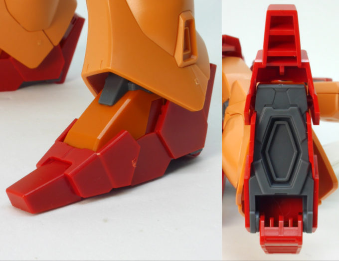 HGBDジェガンブラストマスターの足裏のガンプラレビュー画像です