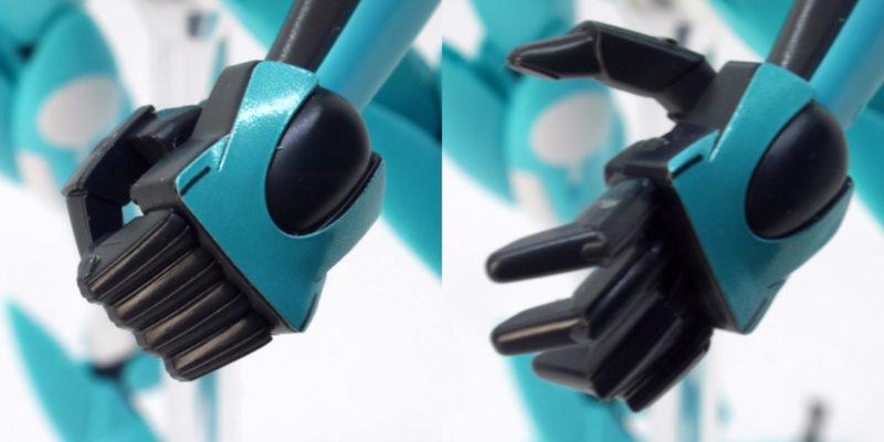 HG AEUイナクト デモカラーのガンプラレビュー画像です