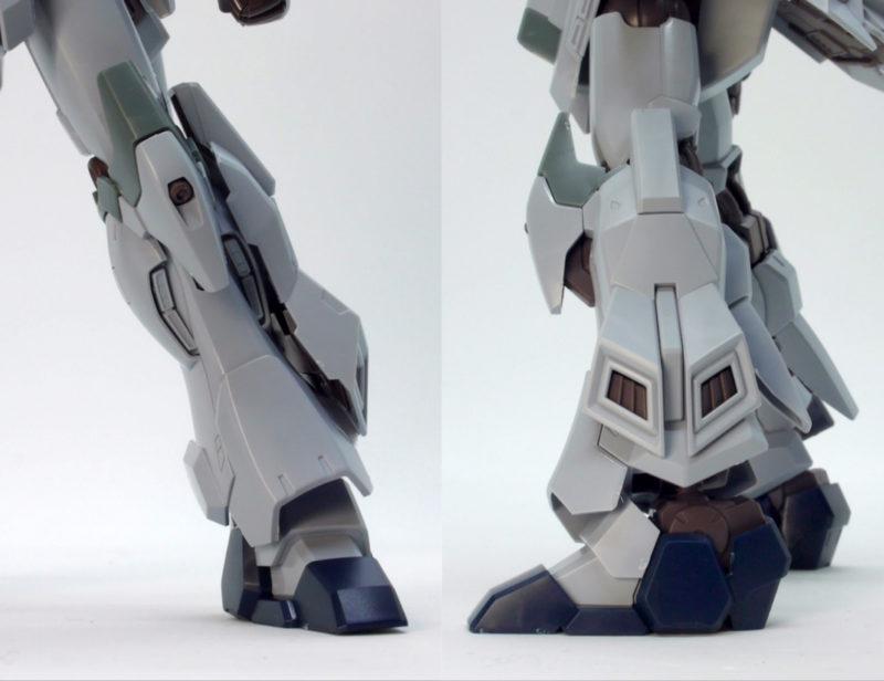 HGUCシナンジュ・スタイン (ナラティブVer.)の脚部のガンプラレビュー画像です