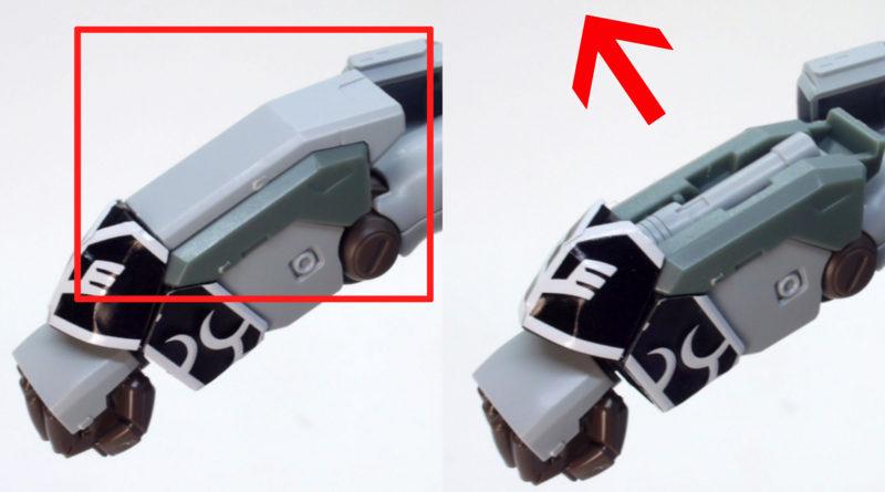 HGUCシナンジュ・スタイン (ナラティブVer.)のビームサーベル引き出しギミックのガンプラレビュー画像です
