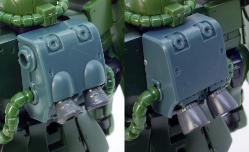 HGザクIIC型(C-5型)のガンプラレビュー画像です