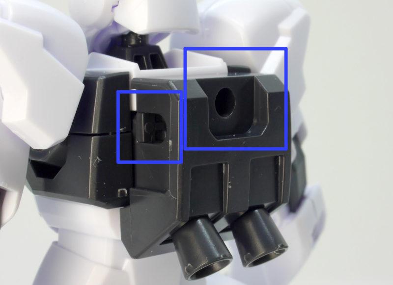 HGBD GBN-ガードフレームのガンプラレビュー画像です