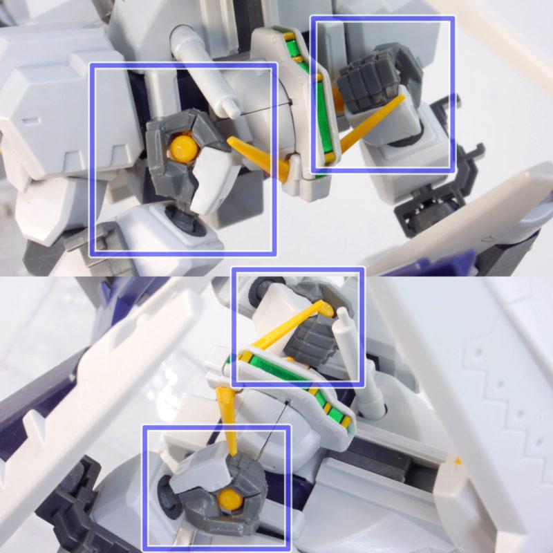 ヘイズル改高機動モードのガンプラレビュー画像です